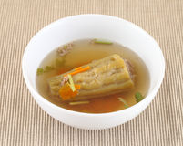Bitter Gourd Soup with Pork in a Bowl Stock Image