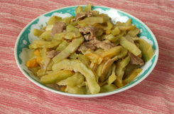 Bitter gourd stir fry. With beef Royalty Free Stock Photos