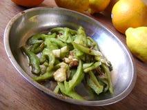 Bitter gourd stir-fry pork meat Stock Image