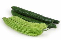 Bitter melon & cucumber Royalty Free Stock Photos