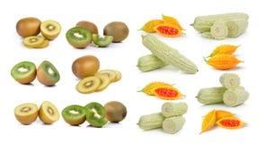 Bitter melon iand kiwi Royalty Free Stock Image