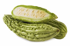 Bitter Melon (with path). Bitter melon isolated on white background (with path stock images