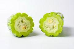 Bitter melon on white background Royalty Free Stock Photography