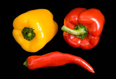 Bitter and sweet pepper Royalty Free Stock Images
