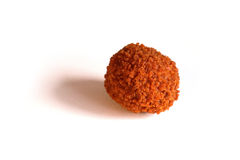 Bitterballen, a traditional Dutch deep fried meat snack, on a white background Royalty Free Stock Photo