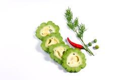 Bittere citroenstukken en Spaanse pepers Royalty-vrije Stock Foto's