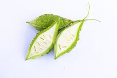 Bittere Melone getrennt Lizenzfreie Stockbilder