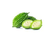 Bittere Melone lokalisiert auf einem weißen Hintergrund Stockfoto