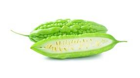 Bittere Melone lokalisiert auf weißem Hintergrund Lizenzfreie Stockbilder