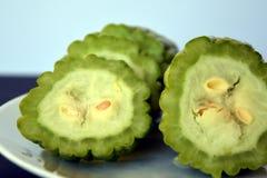 Bittere Melone oder bitterer Kürbis Stockbilder