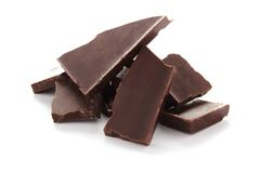 Bittere schwarze Schokolade Lizenzfreie Stockfotografie