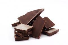 Bittere schwarze Schokolade Stockfoto