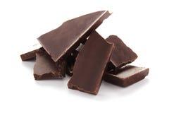 Bittere zwarte chocolade Royalty-vrije Stock Fotografie