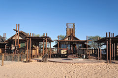 Bitterpan Wilderness Camp in the Kgalagadi Transfrontier Park, South Africa Stock Image