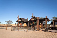 Bitterpan Wilderness Camp in the Kgalagadi Transfrontier Park, South Africa Royalty Free Stock Image
