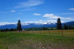 Bitterroot Mountain Valley - Montana Stock Photography