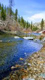BITTERROOT RIVER. East Fork of the Bitterroot River- Conner MT Stock Photo