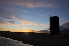 Bitumen Oil Storage Tank Royalty Free Stock Photos