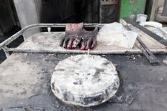 Bitumen painting Stock Photo