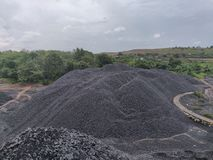 Bituminös - Anthrazitkohle, Kohle der hohen Qualität stockbilder