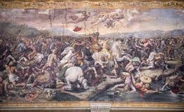 Bitwa Constantine przeciw Maxentius obrazy stock