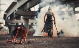 Bitwa dwa mutanta fotografia stock
