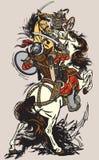 Bitwa między Mongolskimi klanami i plemionami Zdjęcie Royalty Free