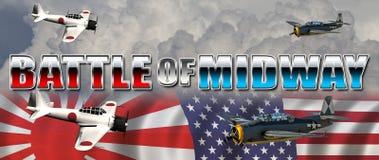 Bitwa Midway ilustracja wektor
