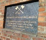Bitwa Stamford mosta plakieta Zdjęcie Royalty Free