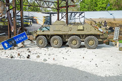 Bitwa w Donetsk lotnisku fotografia royalty free