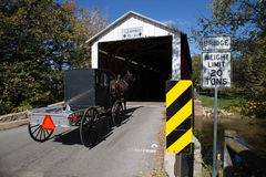 Bitzer's Mill Covered Bridge Royalty Free Stock Images