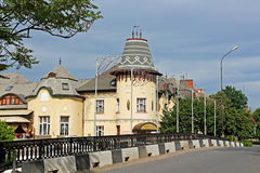 Biulding of former casino in Berehove, Ukraine Stock Photography