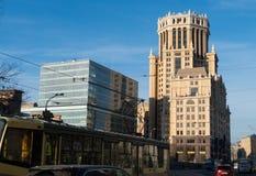 Biura centrum w Moskwa Paveletskaya staci Zdjęcie Royalty Free