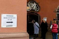Biura de głosowanie głosuje sekci Francja queu Fotografia Stock