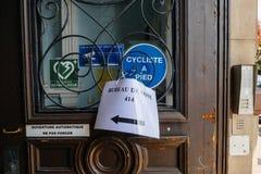 Biura de głosowanie głosuje sekcję w Francja Zdjęcia Stock