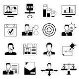 Biura i organizaci ikony ilustracja wektor