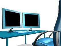 BIURA LCD monitor zdjęcie royalty free