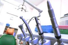 biura medycznego Dentysty biuro, oralna higiena, stomatologiczni instrumenty w g?r? fotografia royalty free