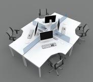 biurka biuro przegradza system Ilustracji