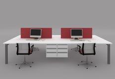 biurka biuro przegradza system Zdjęcia Stock