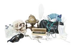 biurka rzeczy medyczny vintge Obraz Royalty Free