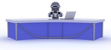 biurka wiadomości reportażu robot siedzący ilustracja wektor