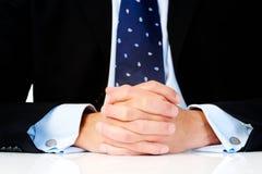 biurko biznesowe ręki Obrazy Stock