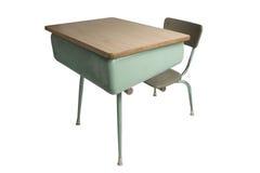 biurko do szkoły zdjęcia stock