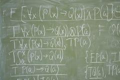 biurko formuł pisemne matematyki Obraz Stock