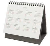 Biurko kalendarz 2015 Obrazy Royalty Free