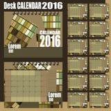 Biurko kalendarz 2016 Zdjęcia Stock