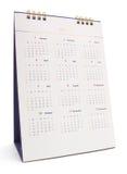 2017 biurko kalendarz, odosobniony na bielu Obrazy Royalty Free