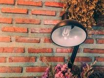 Biurko lampa w rocznika filtrze Obrazy Stock