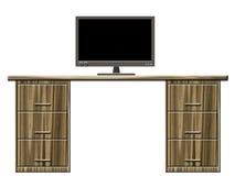 biurko monitor ilustracja wektor